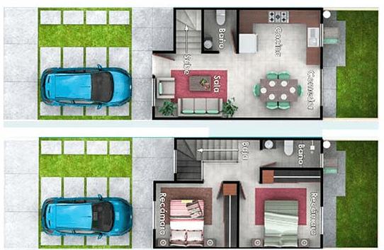 Casa en Ciudad Marqués Plano Rhoda