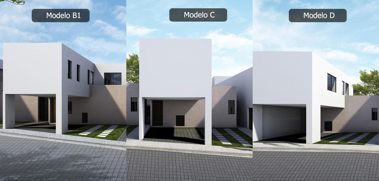 Casa en Inspira Paseo Miró - Zibatá Modelo B1 C D Fachada