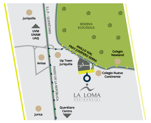 Casa en La Loma Residencial Mapa
