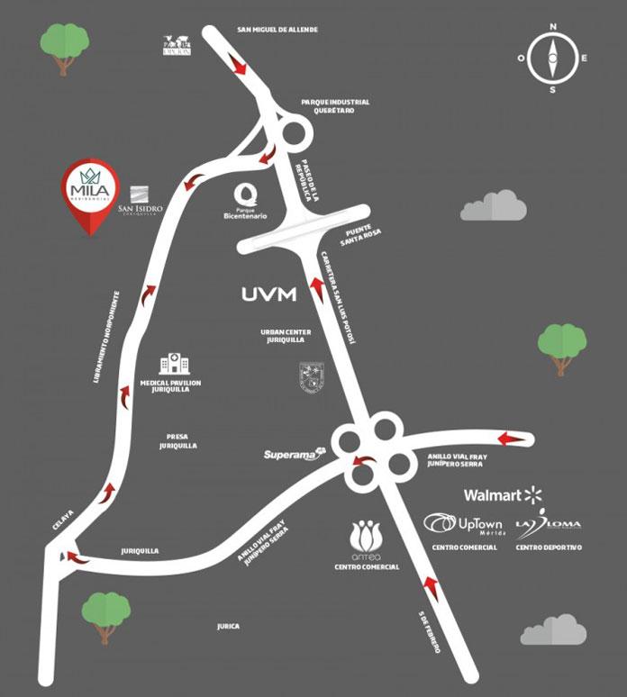 Casa en Milá Residencial Mapa