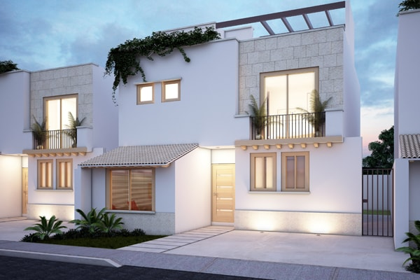 Casa en Punta Cuarzo Residencial Fachada v8