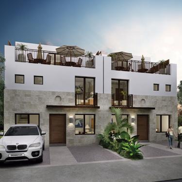 Casa en Torre de Piedra Bugambilias Modelo Caliza con Roof Garden