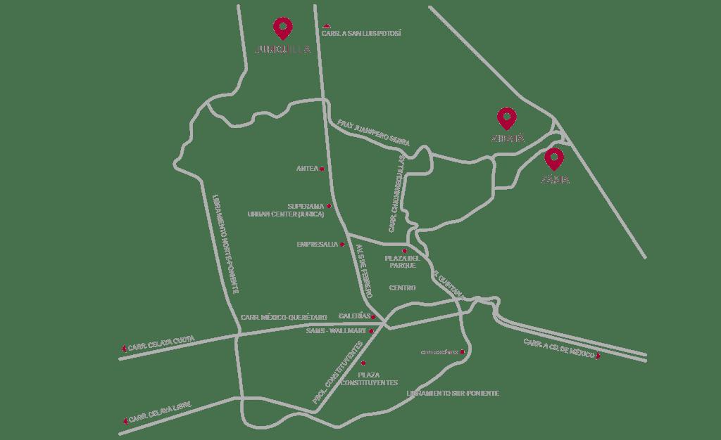 mapa queretaro caisa